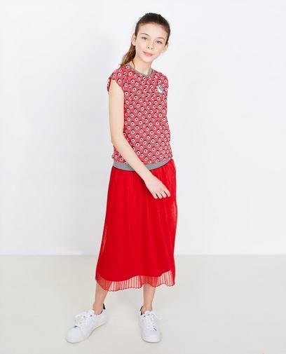 Rode blouse met print